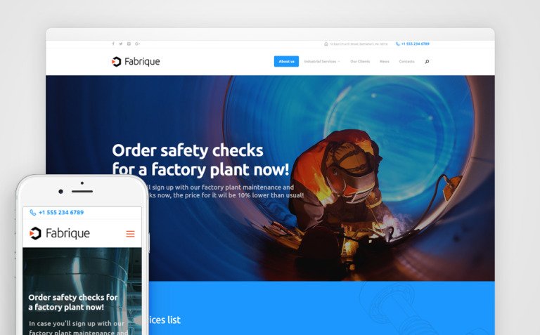 Fabrique - Industrial & Engineering WordPress Theme New Screenshots BIG