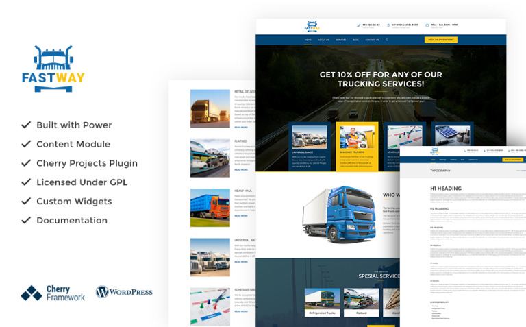 FastWay - Transportation Company Responsive WordPress Theme New Screenshots BIG