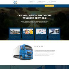 logistics transportation services wordpress theme