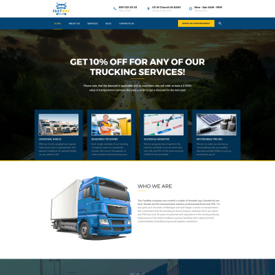 30+ Best Transportation WordPress Themes 2018 | TemplateMonster