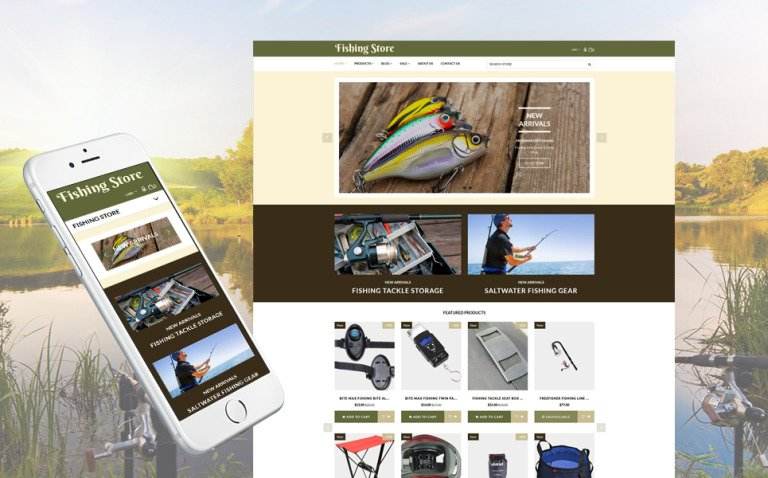 Fishing Store - Fishing Supplies & Equipment Shopify Theme New Screenshots BIG