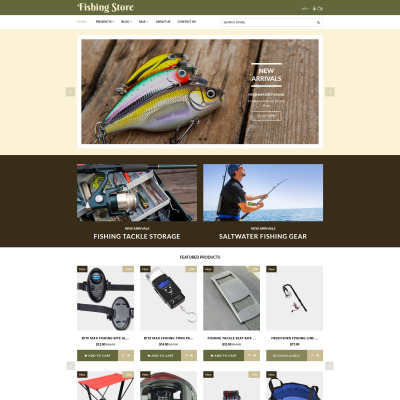 Fishing templates templatemonster for Fishing supply stores