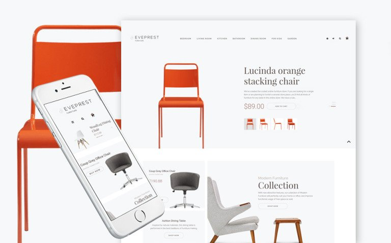 Furniture Responsive PrestaShop Theme New Screenshots BIG