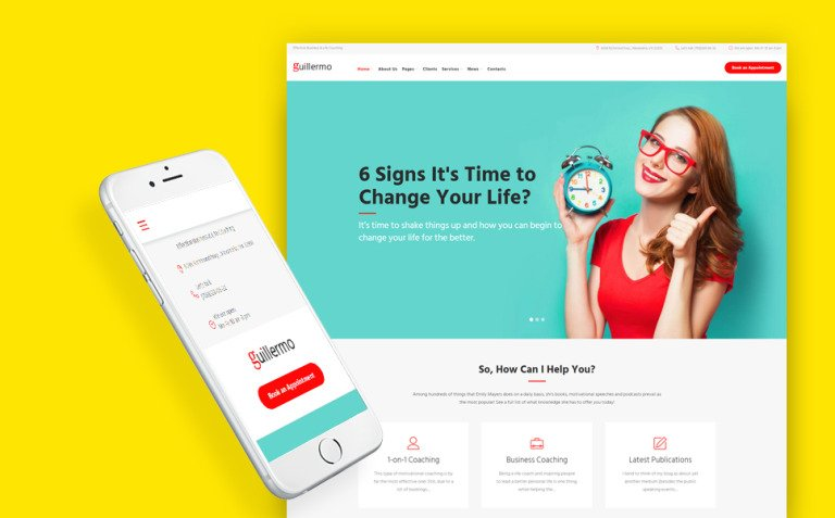 Guillermo - Life & Business Coaching WordPress Theme New Screenshots BIG