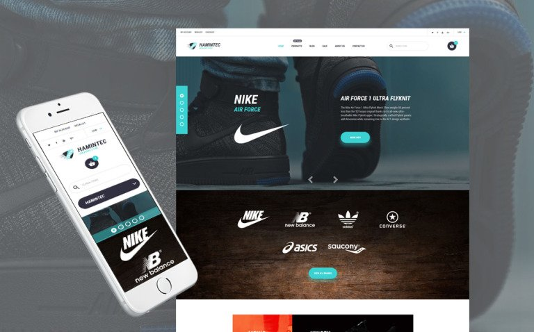 Hamintec - Luxury Quality Sneakers Store Shopify Theme New Screenshots BIG