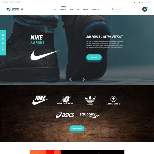 Hamintec - Shopify Template based on Bootstrap