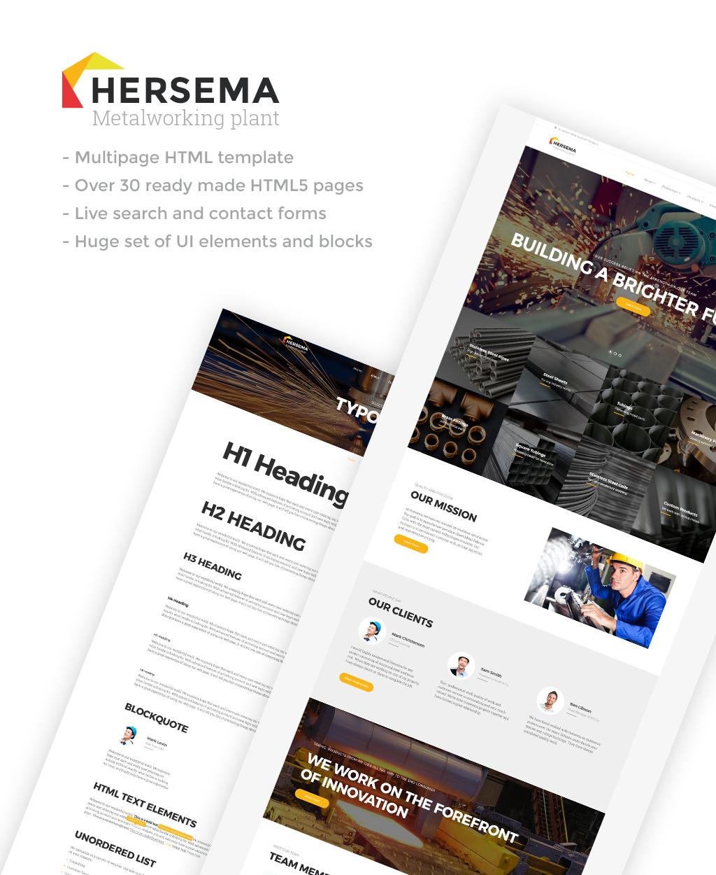 Hersema - Factory Multipage Website Template - screenshot