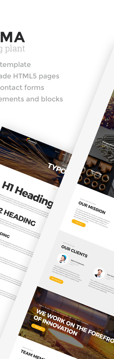 Hersema - Factory Multipage Website Template
