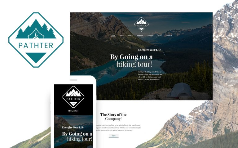 Hiking & Camping Tours WordPress Theme New Screenshots BIG