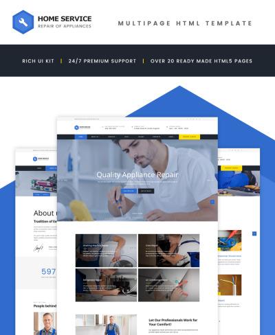 Modèle Web adaptatif  pour site pour une entreprise de peinture