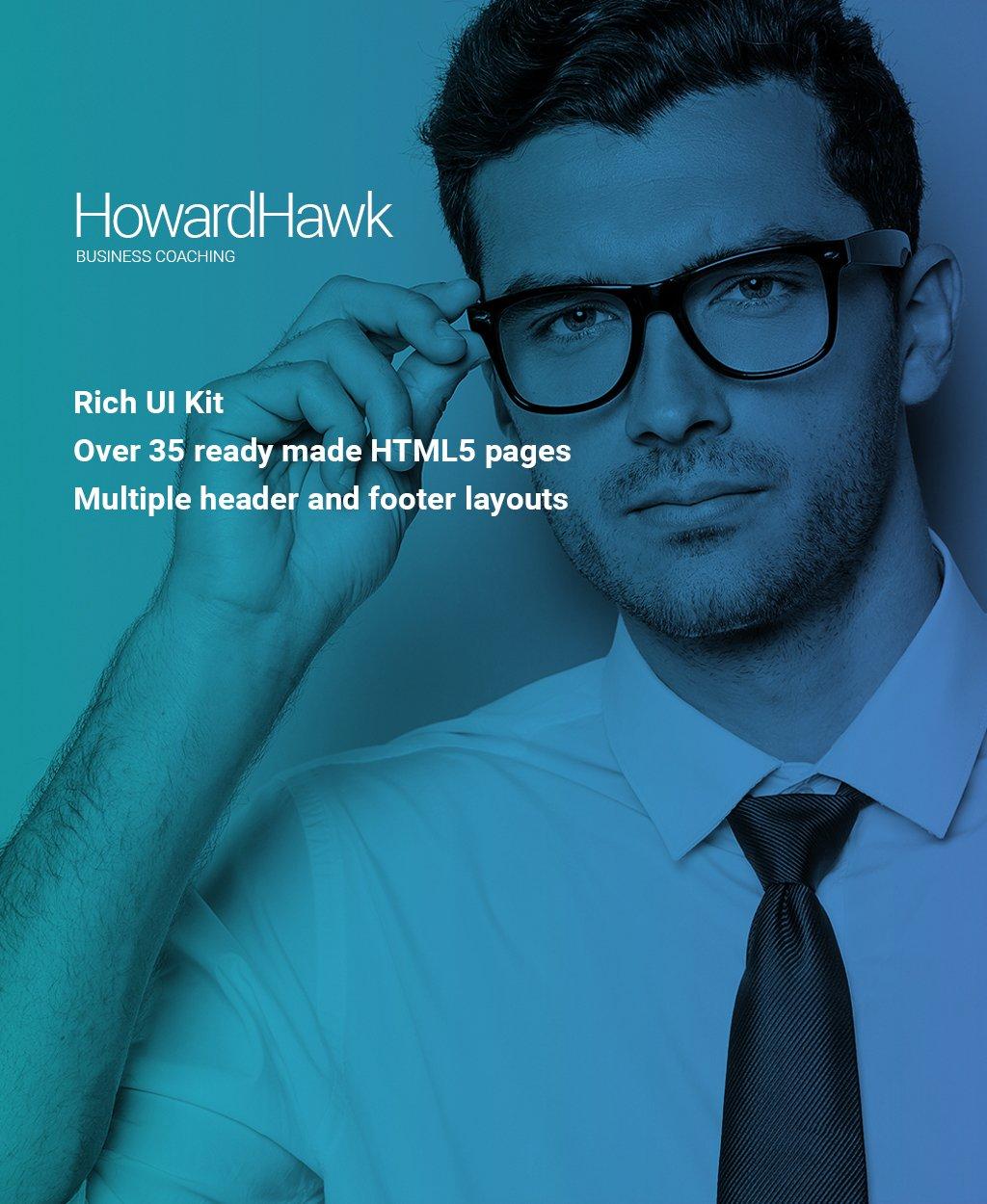 HowardHawk - Business Coaching Multipage Website Template - screenshot