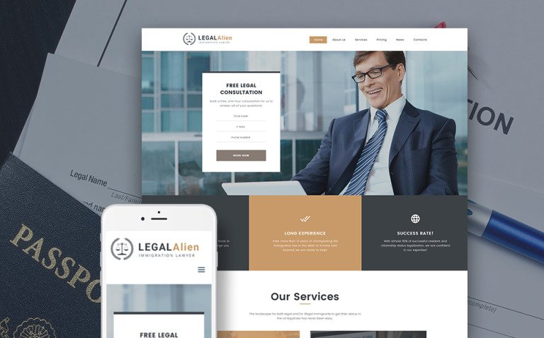Immigration Lawyer WordPress Theme New Screenshots BIG