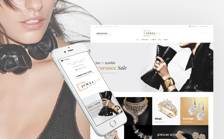 Jewelrix - Jewelry Collection VirtueMart Template New Screenshots BIG
