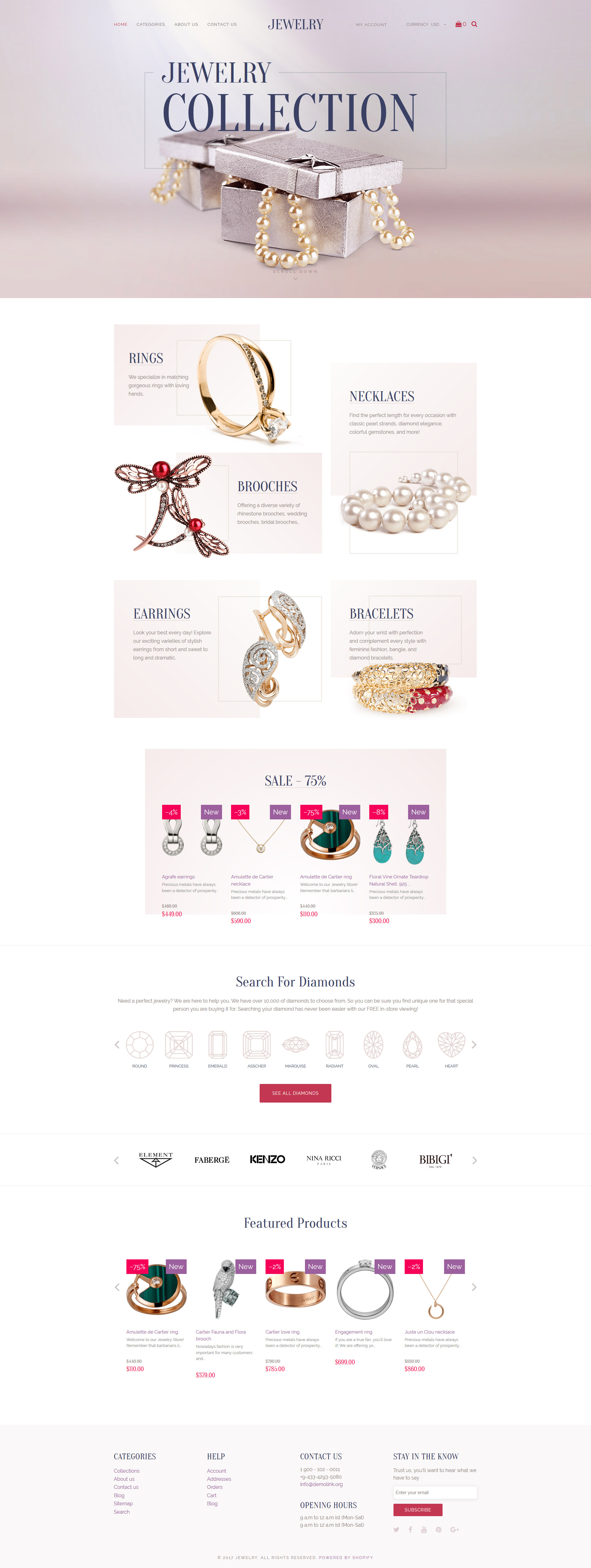 Jewelry - Luxury Collection Shopify Theme - screenshot