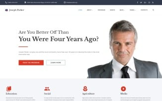 Joseph Parker - Political Candidate Responsive Multipage Website Template