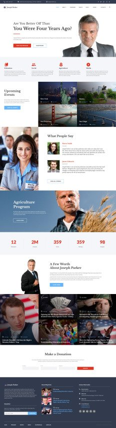 election website template