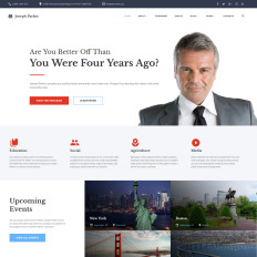 Corporate website templates templatemonster joseph parker political candidate responsive multipage wajeb Images