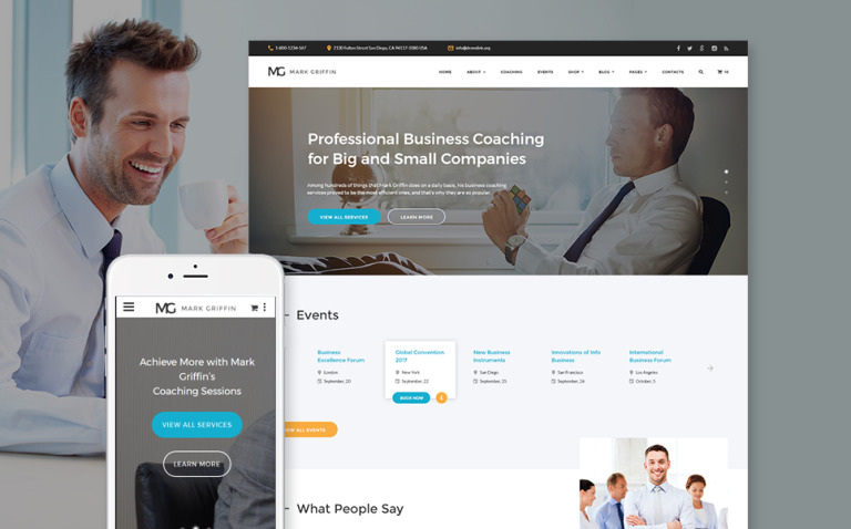 Mark Griffin - Business Coach Responsive Multipage Website Template New Screenshots BIG