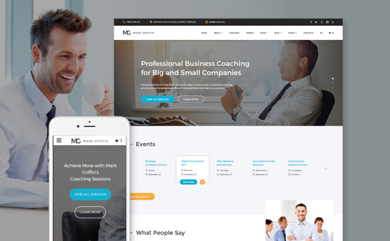 Mark Griffin - Business Coach Responsive Multipage Website Template
