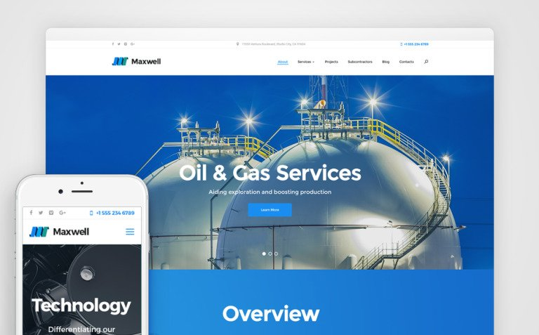 Maxwell - Oil & Gas Company Responsive WordPress Theme New Screenshots BIG