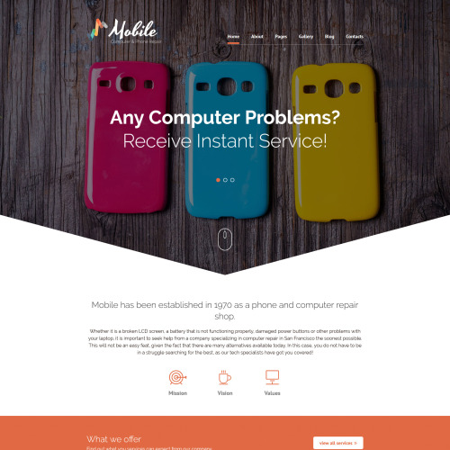 Mobile - Joomla! Template based on Bootstrap