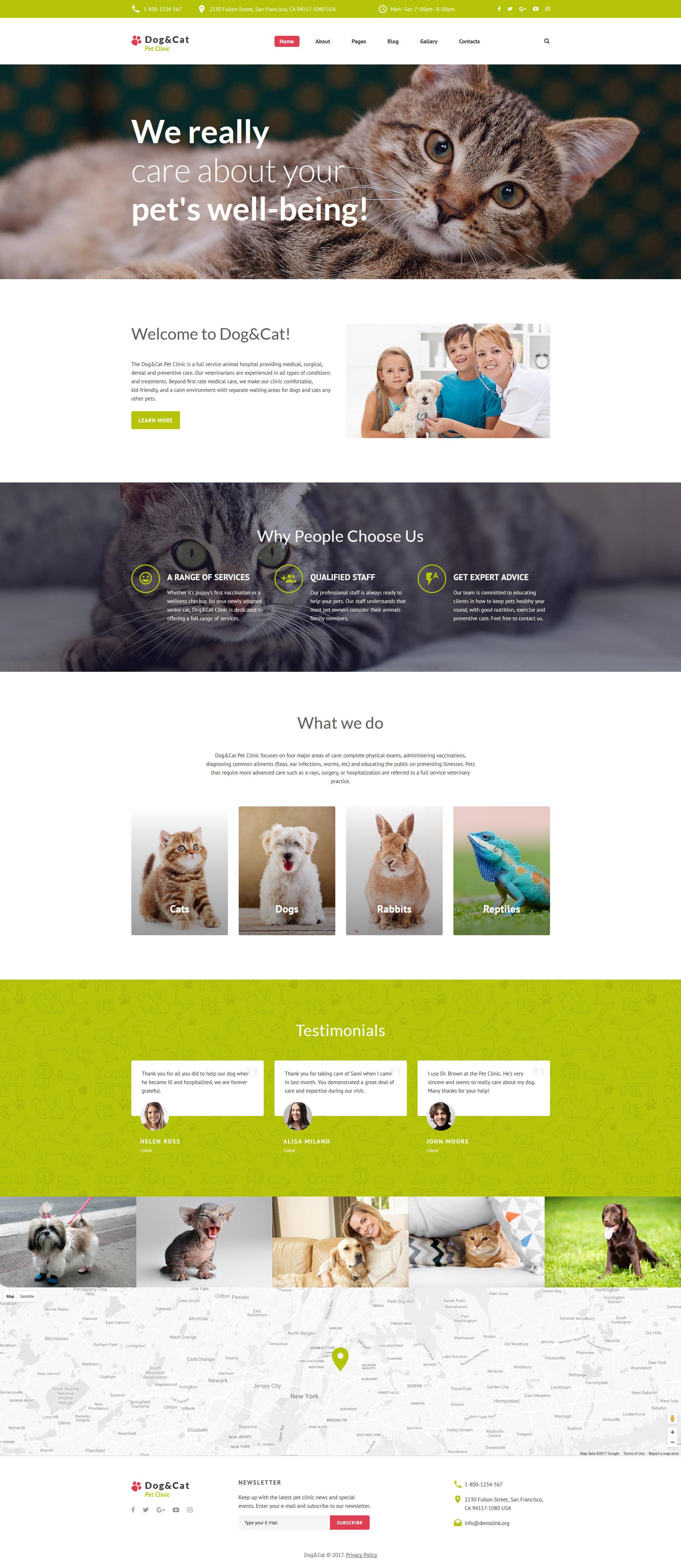 "Modello Joomla Responsive #62318 ""Dog & Cat - Pet Clinic Responsive"""