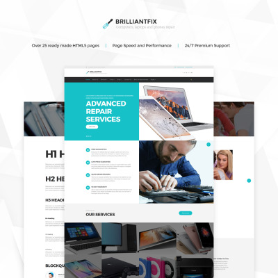 Web Development Responsive Template Siti Web