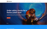 "Modello WordPress Responsive #62357 ""Fabrique - Industrial & Engineering"""