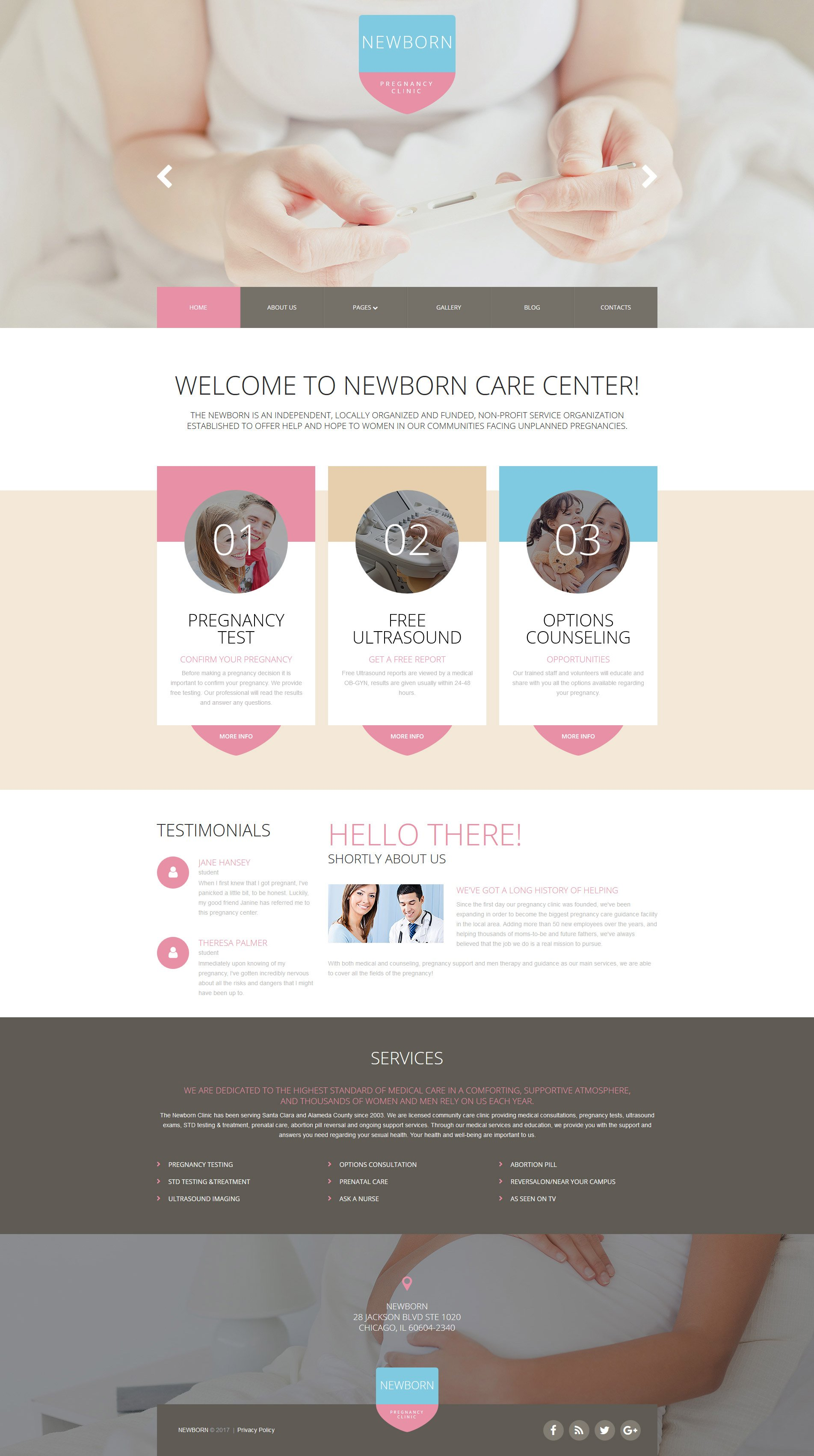 Newborn Responsive Joomla Template - screenshot
