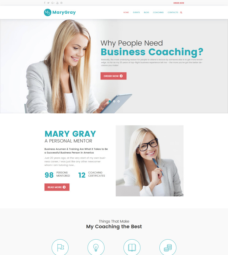 Business Coach WordPress Theme