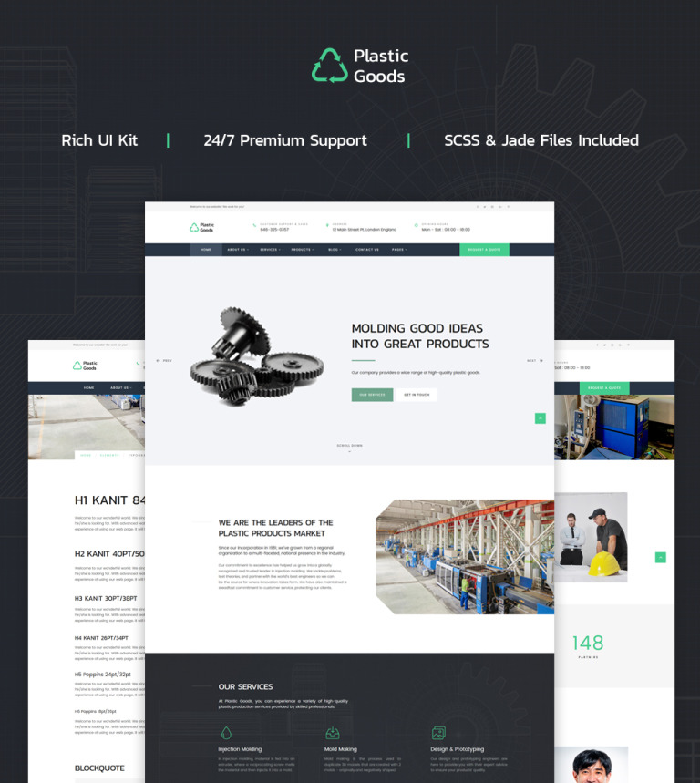 Industrial company html template plastic goods business multipage website template new screenshots big accmission Choice Image
