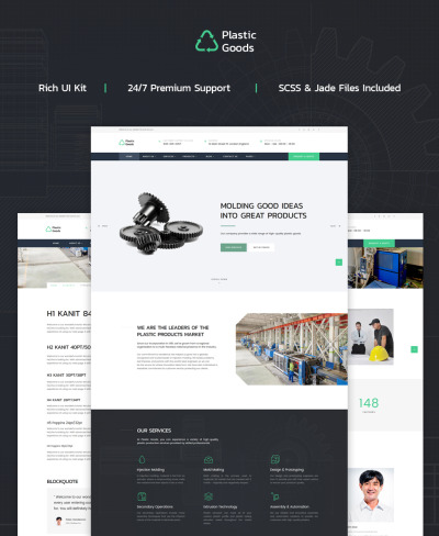 Plastic Goods Website Template
