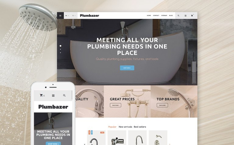 Plumbazer - Plumbing Responsive PrestaShop Theme New Screenshots BIG
