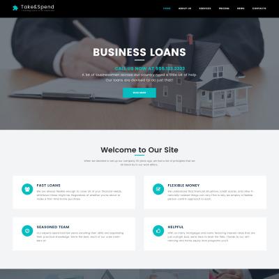 Loans Responsive WordPress Teması