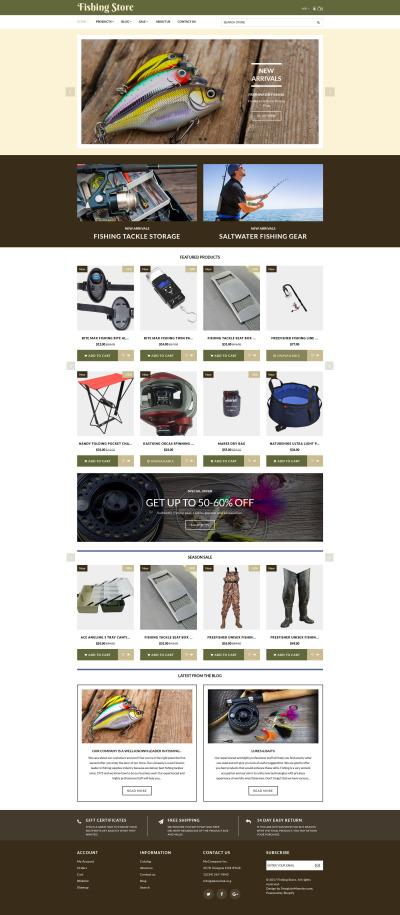 Responsives Shopify Theme für Angeln