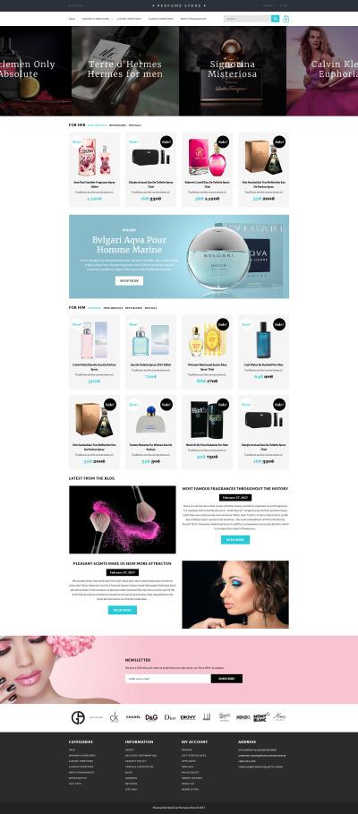 Responsywny szablon OpenCart #62381 na temat: sklep kosmetyki