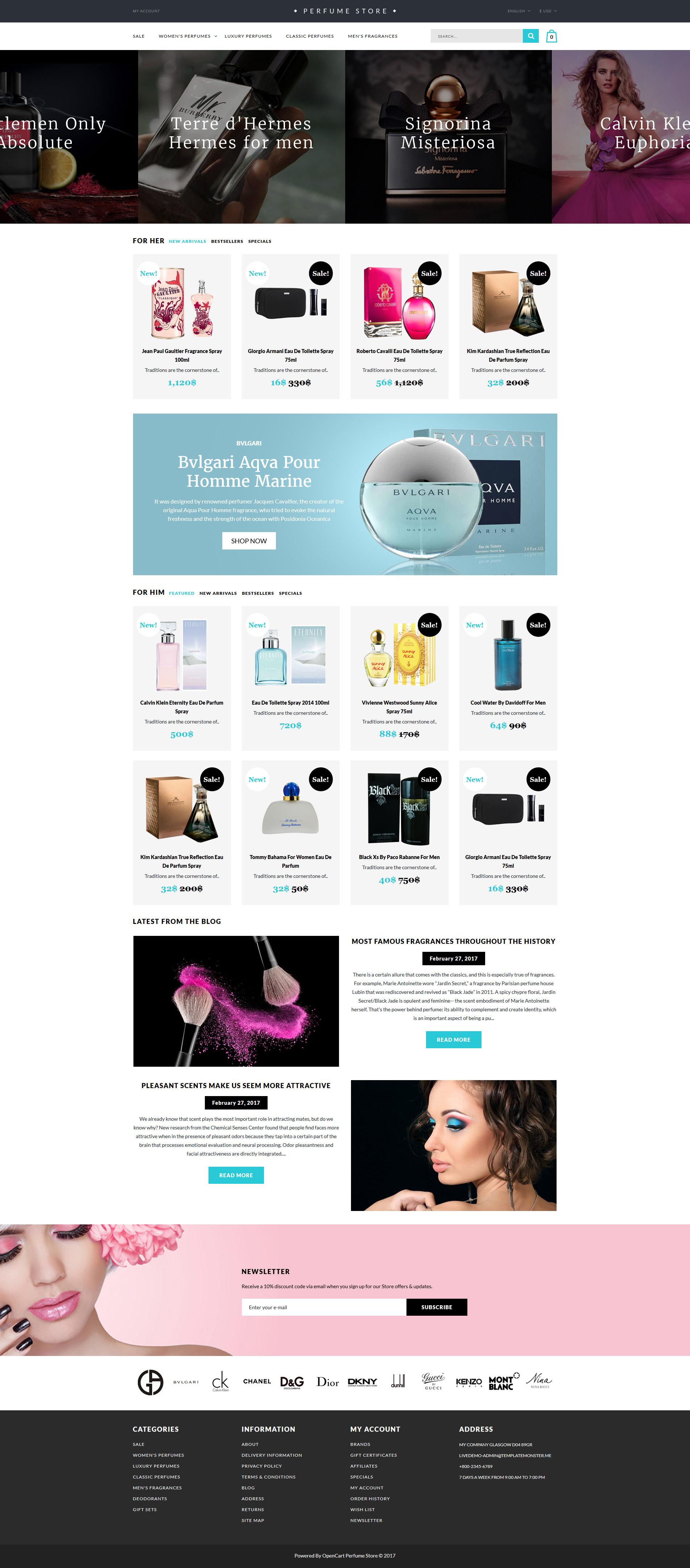 Responzivní OpenCart šablona na téma Kosmetický obchod #62381