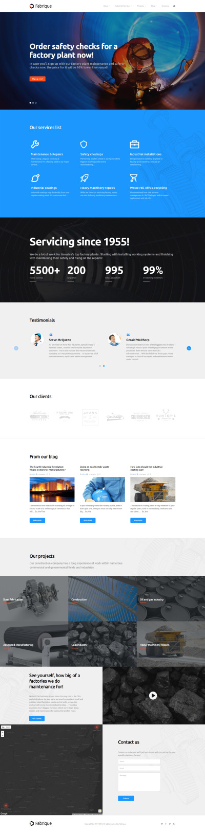 Gas & Oil Responsive WordPress Motiv