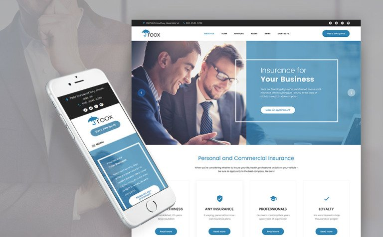 Roox - Insurance WordPress Theme New Screenshots BIG