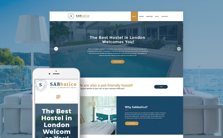 SabBatico - Hostel & Bed & Breakfast Hotel WordPress Theme New Screenshots BIG