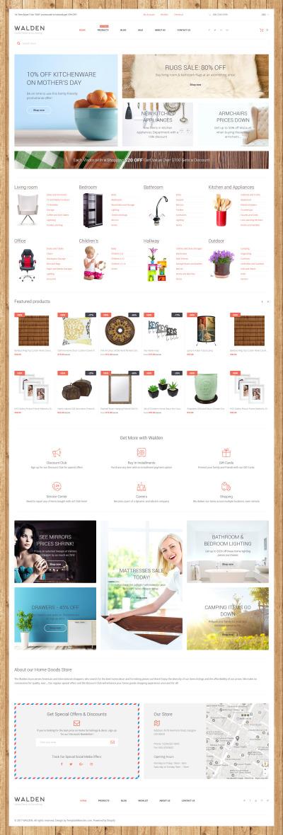 Responsives Shopify Theme für Wohndekor
