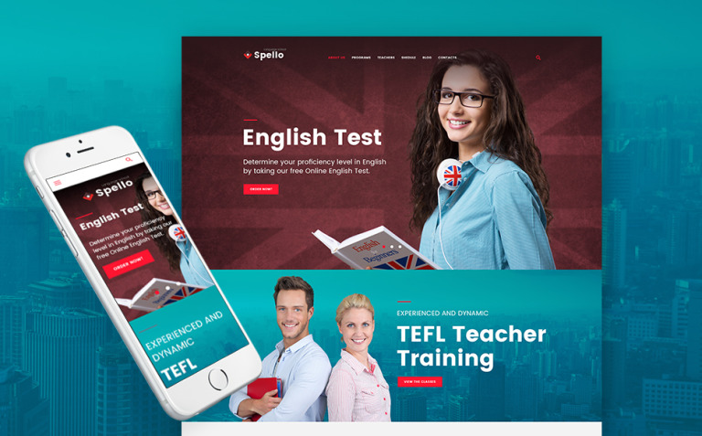 Spello - Language School WordPress Theme New Screenshots BIG