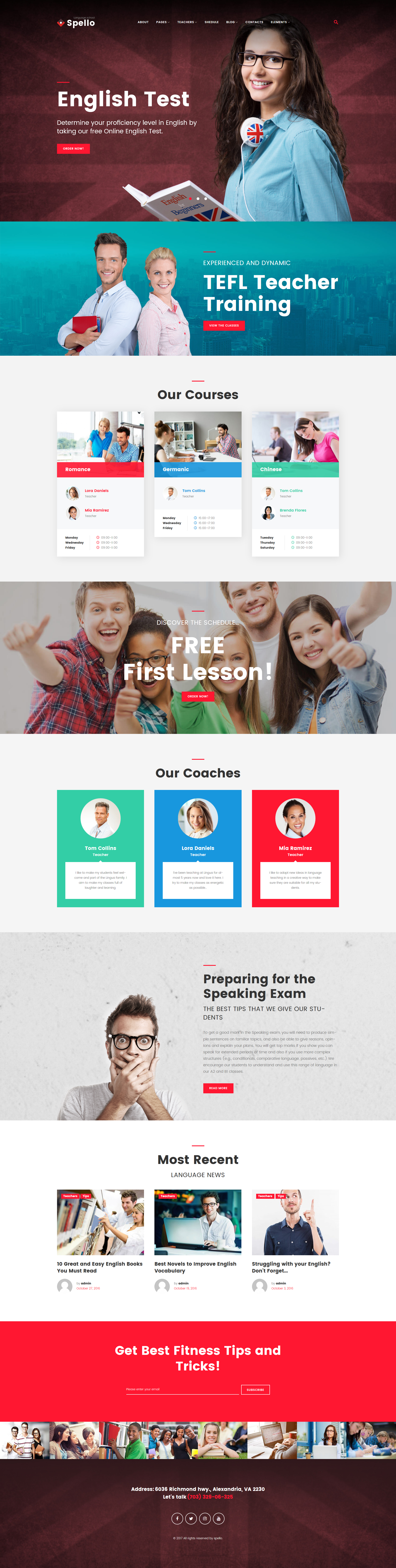 Spello - Language School WordPress Theme - screenshot
