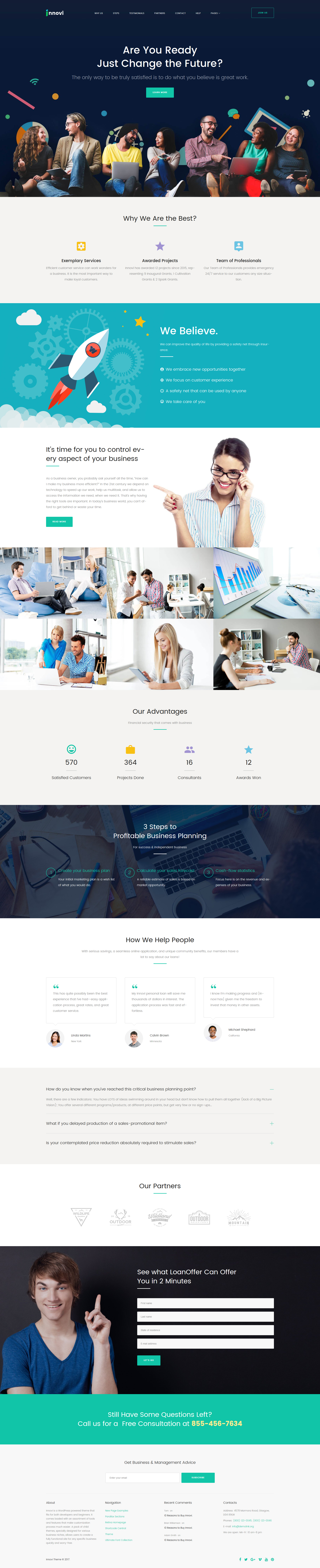 Startup & Creative Digital Agency WordPress Theme - screenshot