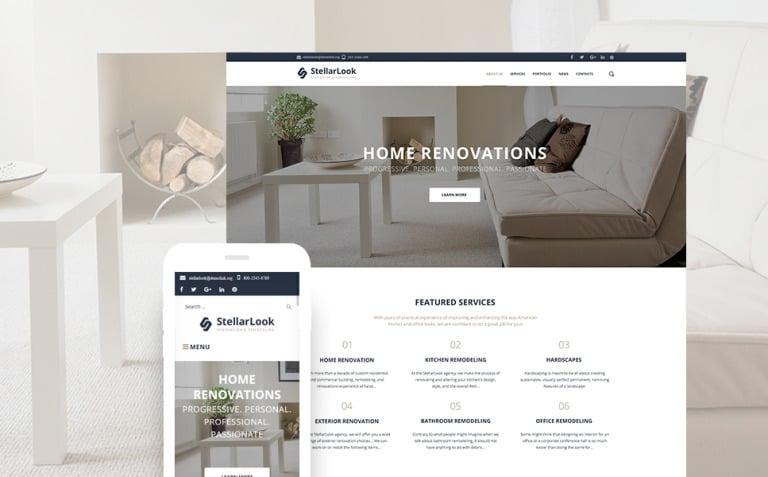 StellarLook - Renovation & Interior Design WordPress Theme New Screenshots BIG