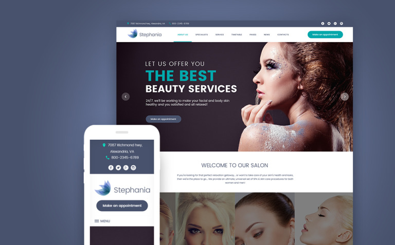 Stephania - Beauty Salon & Skin Care WordPress Theme New Screenshots BIG