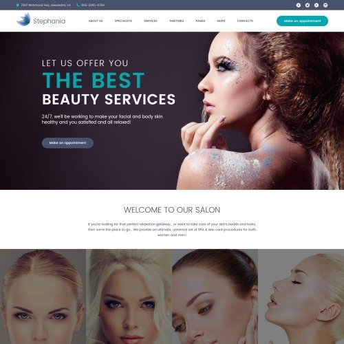 Stephania - Responsive WordPress Salon Template