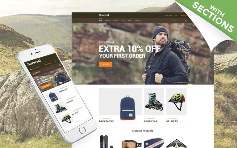 Survival - Travel Equipment Shopify Theme New Screenshots BIG
