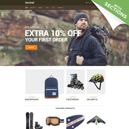 Survival  - Shopify Template based on Bootstrap