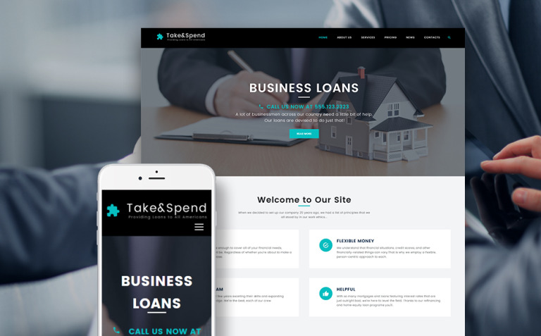 Take & Spend - Loans and Mortgages Business WordPress Theme New Screenshots BIG